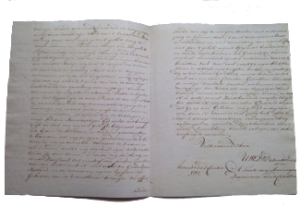 bedankbrief weduwe 1787